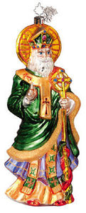 RADKO 1010867 SAINT OF ERIN GEM - ST PATRICK'S - RETIRED ORNAMENT (1)