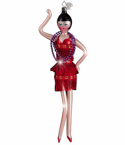RADKO 1011947 FRINGE BENEFITS - ITALIAN - FLAPPER GIRL DANCER ORNAMENT (Z1)
