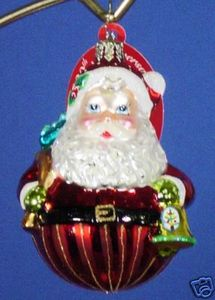 RADKO 1011190 ROLY-POLY DING-DONG GEM - SANTA - RETIRED ORNAMENT (10)