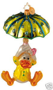 RADKO 1012986 QUACKIN MACK - EASTER - PARACHUTE DUCK - RETIRED ORNAMENT (E3)