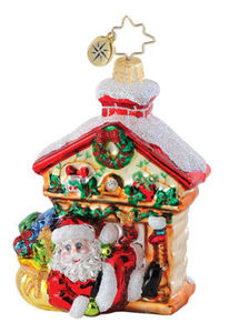 RADKO 1015079 LATE NIGHT LOOT GEM - SANTA - FIREPLACE - RETIRED ORNAMENT (18)