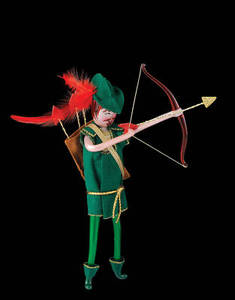 RADKO 1015011 AIMING ARCHER - ITALIAN - ROBIN HOOD - RETIRED ORNAMENT (Q7)