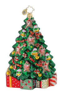 RADKO 1015041 SWEET TREE - GINGERBREAD TREE - RETIRED ORNAMENT (Q5)