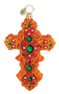 RADKO 1015101 JEWELED OPULENCE - CROSS - RETIRED ORNAMENT - NEW 2010 (Q4)