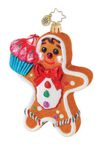 RADKO 1015058 SWEET TOOTH SWEETHEARTS - GINGERBREAD BOY/GIRL 2 SIDED ORNAMENT - RETIRED (Q5)
