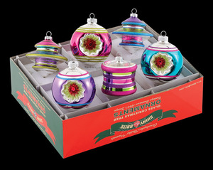RADKO 4024495 SHINY BRITE - MEDIUM COOL YULE SPOOLS, TREES & REFLECTORS - ASST 6 - NEW FOR 2010