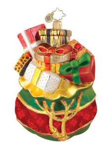 RADKO 1014966 TAILOR MADE OFFERING - BAG OF PRESENTS - GIFTS - RETIRED ORNAMENT (Q4)