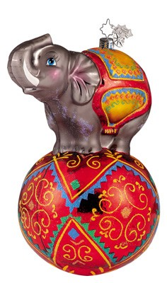 RADKO 1011622 TRUMPET TRUNK - CHRISTOPHER'S FAVORITE - ELEPHANT ON BALL - RETIRED ORNAMENT (CF1)