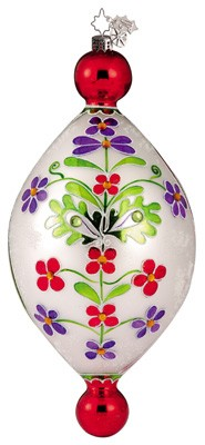 RADKO 1011646 ALPINE FLOWERS - JEWELED DROP ORNAMENT - CHRISTOPHER'S FAVORITE (CF)
