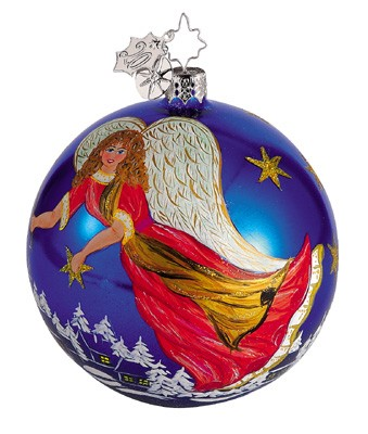 RADKO 1011779 NEOPOLITAN ANGELS - BLUE - CHRISTOPHER'S FAVORITE - BALL ORNAMENT (CF)