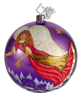 RADKO 1011779 NEOPOLITAN ANGELS - PURPLE - CHRISTOPHER'S FAVORITE - BALL ORNAMENT (CF) (COPY)