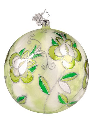 RADKO 1011781 BUDS IN BLOSSOM - GREEN - CHRISTOPHER'S FAVORITE - BALL ORNAMENT (CF1)
