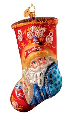 RADKO 1013567 WINTER VALLEY - PORTRAIT STOCKINGS COLLECTION - RETIRED ORNAMENT (X)