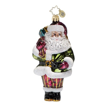 RADKO 1016813 GREENSLEEVES - SANTA WITH GREEN COAT ORNAMENT - NEW 2013 (13-15)