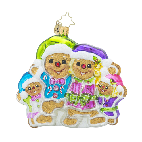 RADKO 1018198 MEET THE SWEETS - GINGERBREAD FAMILY ORNAMENT - NEW 2016 (16 - 5)