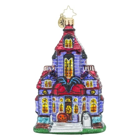 RADKO 1018212 HAUNTED HANGOUT - HAUNTED HOUSE ORNAMENT - NEW 2016 (H7)