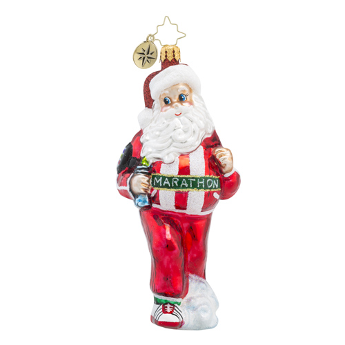 RADKO 1018223 HOLIDAY JOGGER - MARATHON RUNNER SANTA ORNAMENT - NEW 2016 (16 - 6)