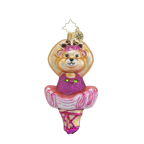 RADKO 1018259 ON HER TIPPY TOES - BALLERINA BEAR ORNAMENT - NEW 2016 (16 - 7)