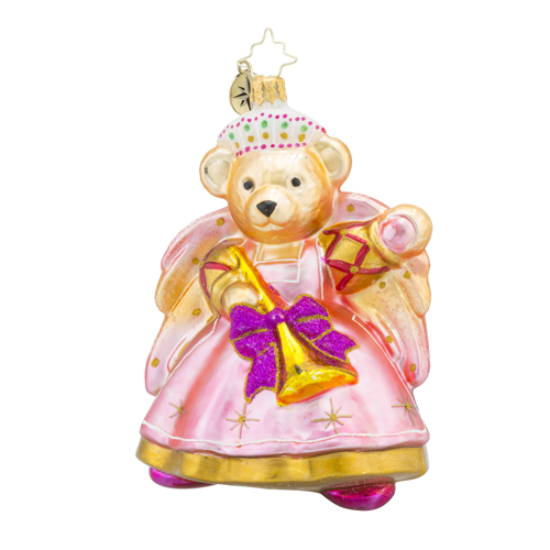 RADKO 1018316 BAROQUE MUFFY - MUFFY VANDER BEAR - MUFFY WITH TRUMPET ORNAMENT - NEW 2016 (16 - 9)