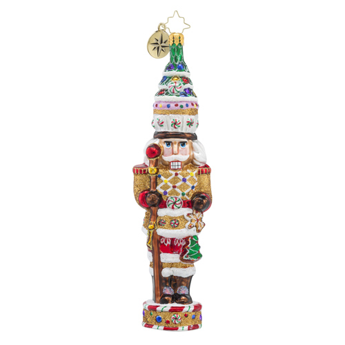 RADKO 1018324 CANDY CRACKER - GINGERBREAD AND CANDY NUTCRACKER ORNAMENT - NEW 2016 (16 - 9)
