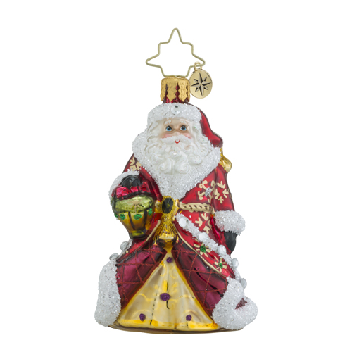 RADKO 1018340 SHIMMERING SANTA LITTLE GEM - JEWELED SANTA - NEW 2016 (24)