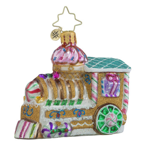 RADKO 1018343 SUGAR CHOO-CHOO LITTLE GEM - GINGERBREAD LOCOMOTIVE - TRAIN - NEW 2016 (24)