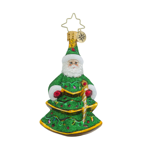 RADKO 1018344 SPRUCED UP SANTA LITTLE GEM - SANTA TREE - NEW 2016 (24)