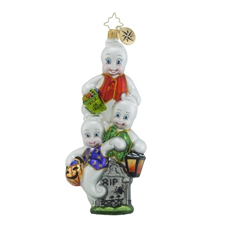 RADKO 1018420 JACK-N-GHOUL - 3 GHOSTS AND TOMBSTONE ORNAMENT - NEW 2016 (H7)
