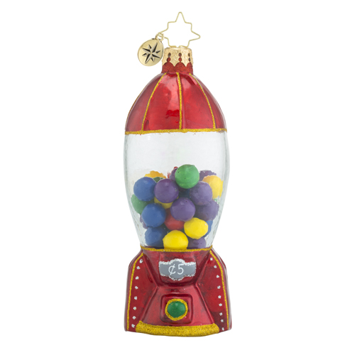 RADKO 1018432 GUMBALL BLASTOFF! - ROCKET SHIP GUMBALL MACHINE ORNAMENT - NEW 2016 (16 - 12)
