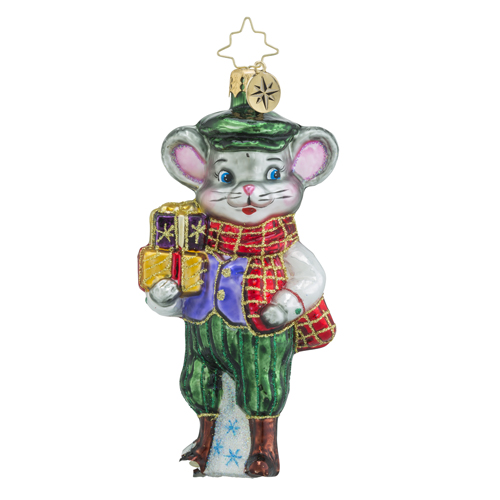 RADKO 1018449 PRESENT-ING TIM - MOUSE WITH GIFTS ORNAMENT - NEW 2016 (16 - 12)