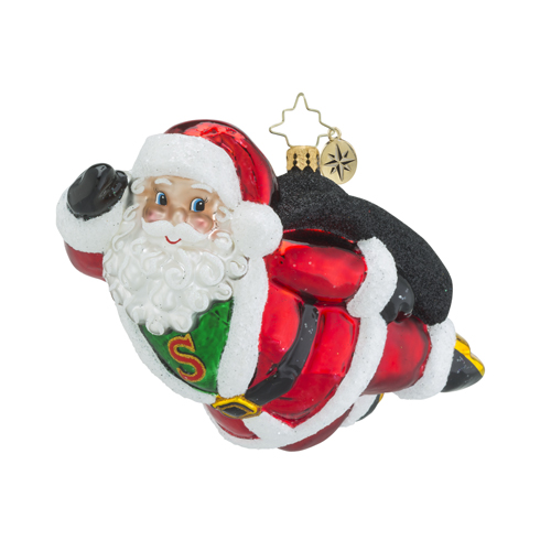 RADKO 1018451 A HERO FOR CHRISTMAS - FLYING SUPERMAN SANTA ORNAMENT - NEW 2016 (16 - 12)