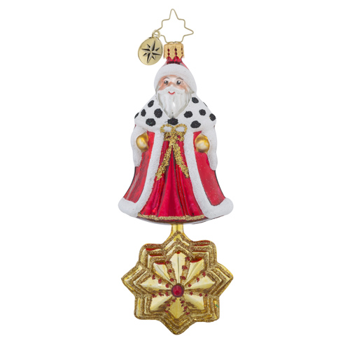 RADKO 1018518 STARRY SANTA - CLASSIC SANTA OVER STAR ORNAMENT - NEW 2016 (16 - 14)