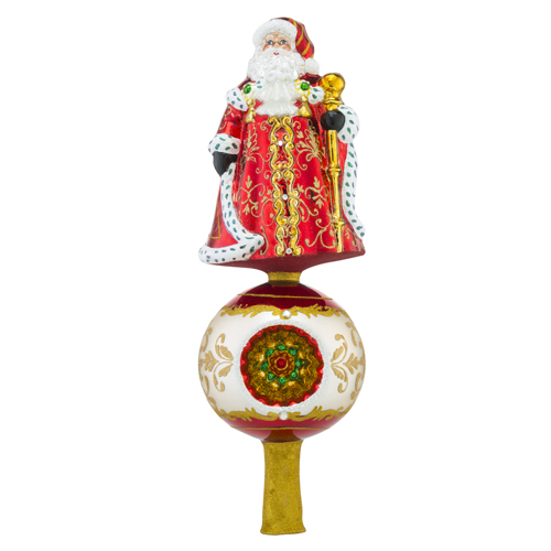 RADKO 1018523 FESTIVE FELLOW - SANTA ON BALL WITH REFLECTOR - NEW 2016 (FIN7)