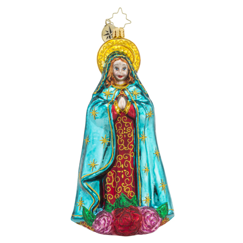 RADKO 1018526 HOLY BEAUTY - ANGEL WITH BLUE CAPE ORNAMENT - NEW 2016 (16 - 14)