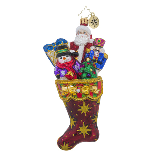 RADKO 1018551 NO COAL HERE! - STOCKING FULL OF TOYS AND GIFTS ORNAMENT - NEW 2016 (16 - 15)