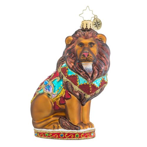 RADKO 1018552 KING OF THE JUNGLE - WILDLIFE CONSERVATION CHARITY - LION ORNAMENT - NEW 2016 (16-1)