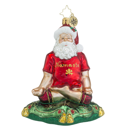 RADKO 1018558 SWAMI SANTA - YOGA - MEDITATING SANTA ORNAMENT - NEW 2016 (16 - 15)