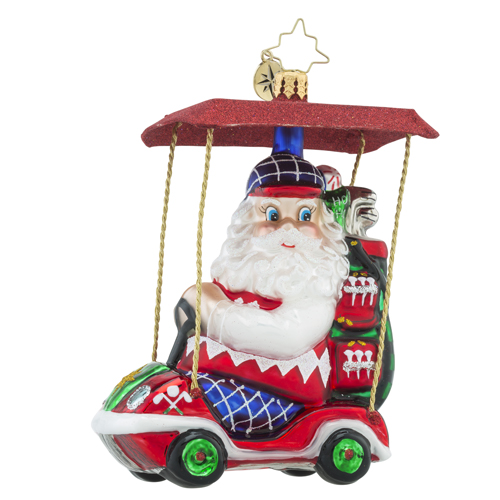 RADKO 1018570 SENIOR TOUR - SANTA DRIVING GOLF CART ORNAMENT  - NEW 2016 (16 - 15)