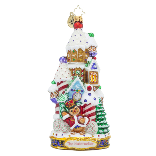 RADKO 1018587 THE LAND OF SWEETS - THE NUTCRACKER SUITE SERIES - CANDY HOUSE ORNAMENT - NEW 2016 (16-1)