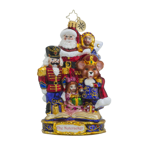 RADKO 1018589 THE END OF AN ADVENTURE - THE NUTCRACKER SUITE SERIES - SANTA, THE NUTCRACKER, CLARA AND THE MOUSE KING ORNAMENT - NEW 2016 (16-1)