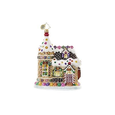 RADKO 1018610 HOME SWEETS HOME - GINGERBREAD HOUSE ORNAMENT - NEW 2017 (17-3)