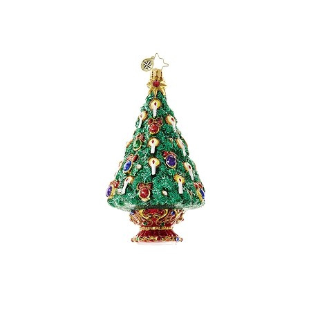 RADKO 1018613 JEWELED SPRUCE - JEWELED TREE WITH CANDLES ORNAMENT - NEW 2017 (17-3)