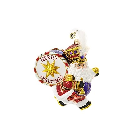 RADKO 1018625 HOLIDAY MARCHER - SANTA WITH DRUM ORNAMENT - NEW 2017 (17-3)
