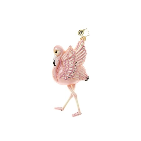 RADKO 1018635 FLAMINGO FLARE - FLAMINGO ORNAMENT - NEW 2017 (17-4)