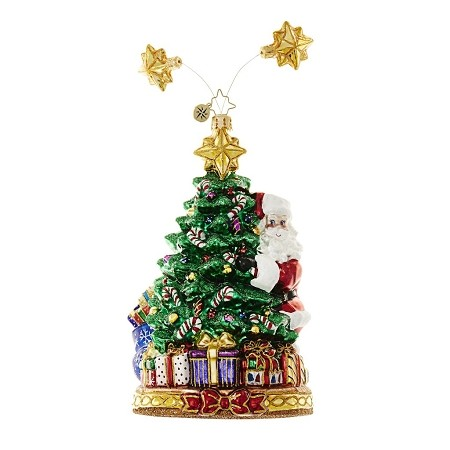 RADKO 1018647 SPRING SPRANG SPRUCE - SANTA & TREE WITH GIFTS ORNAMENT - NEW 2017 (17-4)