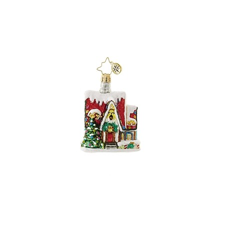 RADKO 1018655 CHRISTMAS AUBERGE GEM - SNOW COVERED HOUSE ORNAMENT - NEW 2017 (25)