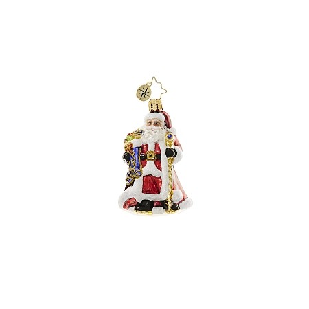 RADKO 1018657 NOBLE NICHOLAS GEM - SANTA WITH STAFF ORNAMENT - NEW 2017 (25)