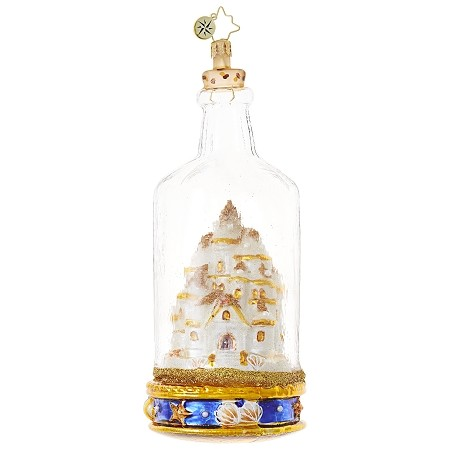 RADKO 1018715 SAND CASTLE IN A BOTTLE - SUMMER ORNAMENT - NEW 2017 (17-7)