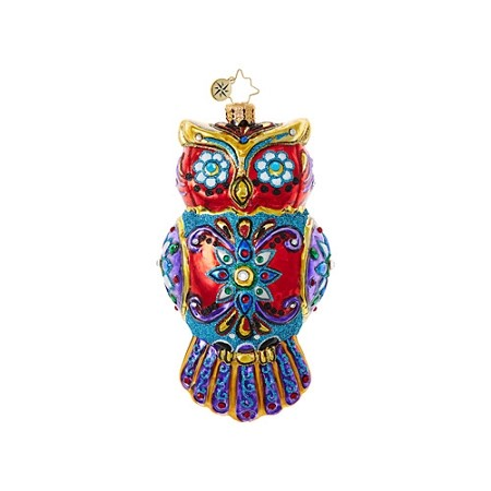 RADKO 1018720 ORNATE OWL - HALLOWEEN - JEWELED OWL ORNAMENT - NEW 2017 (H8)