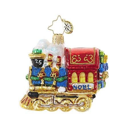 RADKO 1018738 ALL ABOARD GEM - LOCOMOTIVE - TRAIN ORNAMENT - NEW 2017 (25)